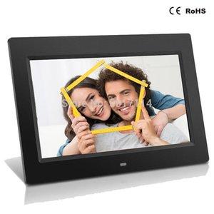 10 İnç LED Arka HD 1024 * 600 Tam Fonksiyon Dijital Fotoğraf Çerçevesi Elektronik Albüm digitale Resim Music Video