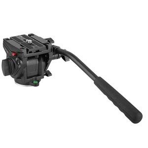 Лучшие предложения KINGJOY Heavy Duty Video Camera Fluid Drag Head, Fluid Drag Pan Tilt Head для DSLR камеры видеокамера съемки