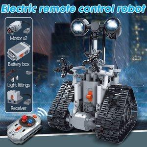 малыш игрушки блок игрушки RC Robot Electric Building Blocks Technic дистанционного управления Интеллектуальный робот Кирпичи игрушки горячий продавать