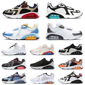 nike air airmax max 200 Atacado 2020 Top Almofada 200 Homens Mulheres Running Shoes Preto Bordeaux Teal Branco metálicas ouro do deserto de areia Mulheres Formadores Tenns Sneakers