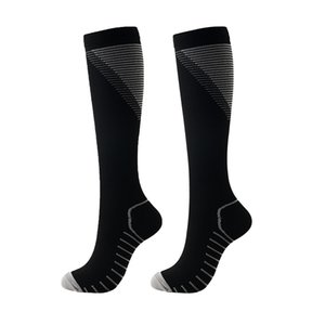 Sports Socks Knee High Long Polyester Printed Nylon Compression unisex Outdoor Sports Footwear Accessories