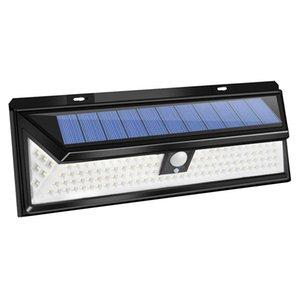 Солнечный свет Открытые 118 LED Солнечного свет датчик движения безопасности IP65 Свет водонепроницаемых стен для сада Патио Yard Deck Гаража