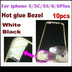 10шт передней рамка с горячим клеем Средней Рамки для Iphone 5s 5са 5g 6 4 0,7 6 Plus 5 .5 дюймов Черных Белых