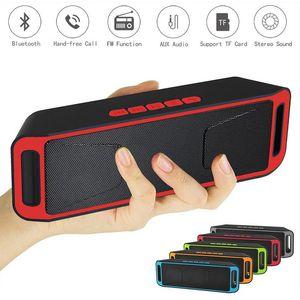 50pcs New SC208 Wireless Bluetooth 4.0 Speaker TF USB FM Radio Dual Speaker Bass Sound Stereo Subwoofer Speakers
