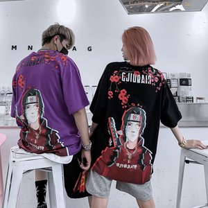 Naruto Anime Men's Short Sleeve T-Shirt Couple Casual Joker Fashion Youth Tee Shirt Hip Hop Street Dress Top 200925