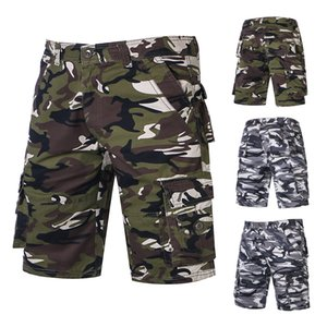 Fashionable new style outdoor summer casual pants camouflage pants men's work wear five point shorts
