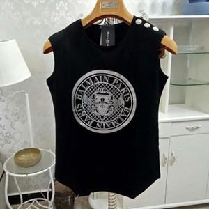 Femmes Balmain Styliste T-shirt Vêtements Femme de haute qualité à manches courtes femmes Balmain femmes débardeurs T-shirts Taille S-L