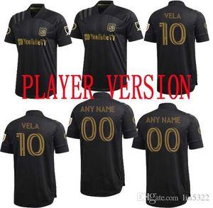 Top Player versione LAFC Jersey MLS 2020 di calcio della casa camicia nera di Los Angeles FC VELA Più veloce di trasporto