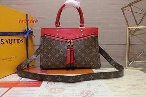2020 ombro M44195 Popincourt New Fashion Vermelho Brown Handbag Mulheres Bolsas Hobo Bolsas Top Alças Boston Corpo Cruz Mensageiro Ombro
