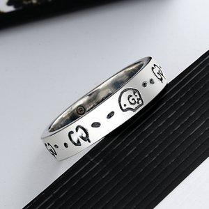 스탬프 패션 쥬얼리 액세서리 크기 6/7/8/9 높은 품질을 가진 여성 남성 해골 편지 링 편지 손가락 반지