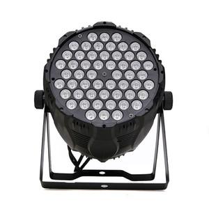 WRCO 54X3W RGBW LED أضواء المسرح DMX 512 مراقبة LED PAR DJ ضوء RGBW المرحلة إضاءة العارض حزب DJ KTV بار المرحلة نادي