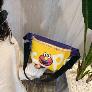 Peito heqxf crossbody satchel personalizado meninos fashionle fashionle korean ombro saco de satchel estilo criança menina deve ngsg
