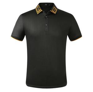 Yeni 2020 Yaz Erkek Short Sleeve Polo Shirt Pamuk İşlemeli Shirt Yaka Erkek T Shirt Giyim