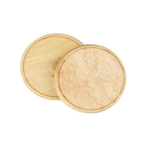 Innovative Design Magnetic A Bottle Opener Wood Round Fridger Magnet Opener Coaster Bottle Opener With Magnets FWD1065