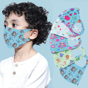 print enfant concepteur masque facial masque aléatoire enfant bouche masque antipoussière househould champ de protection en coton de soie glacée couverture rose masques de protection