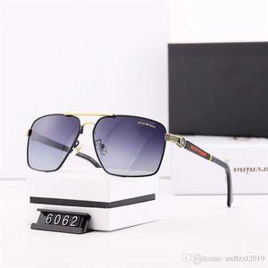 Mens Pilot Sunglasses Big Frame Polarized Men Popular Designer Sunglass Metal Frame Lentes Eyewear Sun Glasses Des lunettes de soleil 44277