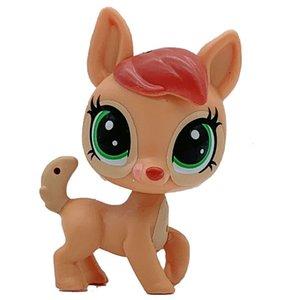 Pouco modelo animal Pet Shop Mini gato filhote de cachorro velho Figuras de Ação Kids Brinquedos
