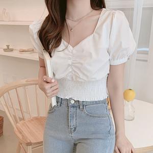 BOBOKATEER damas blancas camisas de las mujeres blusa corta de verano cimas Chemisier femme tops para mujer y blusas blusas mujer de moda 200923
