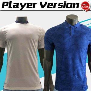 Version joueur ANGLETERRE blanc Accueil maillot de foot bleu loin 20/21 shirts soccer d'homme KANE chemise LINGARD STERLING football sur mesure
