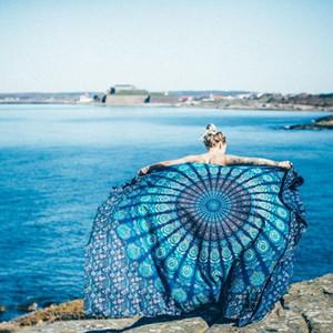 Large Mandala Tapestry Wall Hanging Bohemian Beach Towel Polyester Thin Blanket Yoga Shawl Mat Sofa Blanket