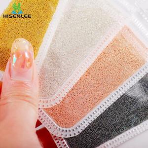 Высокое качество 10g мини икра металл бисер микро стальной шар шпильки шпильки алмазов 0.6-2.0mm DIY ногтей искусство украшения