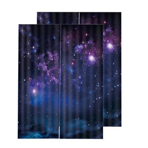 Set di 2 (150x166cm) 3D Starlight Blackout Curtain Foto Stampa Bedroom Window Curtains