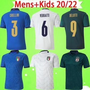 italy third soccer jersey green European league 2019 2020 italy third soccer jersey green CUP 19 20 maglie da calcio Verratti Jorginho Romagnoli MAN KIDS KIT camiseta de fútbol