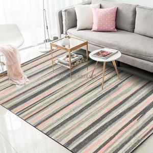 Nordic Style Carpets Gray Yellow Geometric Striped Area Rugs Living Room Sofa Non-Slip Floor Mats Kids Bedroom Play Tent Tapete