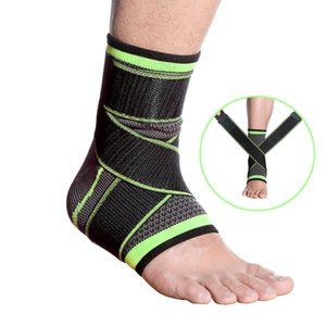 1PC 3D Pressurized Ankle Support Wrist Support Sports Gym Badminton Ankle Brace Protector with Strap Belt Elastic Fitness 2020