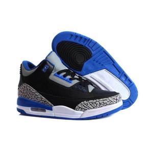 Nike Air Jordan 3 Retro 2020 Retro Katrina 3s Quai 54 de Men 3 Tinker JTH Pure White Preto Cimento Internacional Voo livre Jogando Linha Casual Shoes Tamanho 8-13