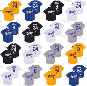 Factory Outlet Die Mamba schwarzen Baseball Los Angeles Trikots 8 24 Bryant commemorate 2020 neue Daoqi T-Shirt, Größe S-3XL All genähtes