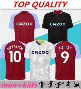 Homens + Kits Kits 20 21 Jersey Grealish Jersey Wesley Kodja 2020 2021 El Ghazi Chester McGinn Jugador Camisas de futebol