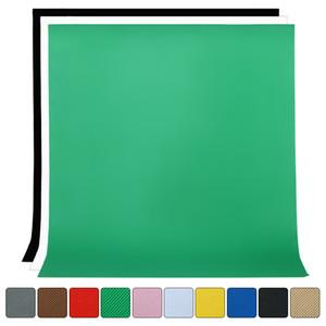 1.6Mx2M / 3M / Fotografia 4M Photo Studio Background Simples Pano de fundo não tecido sólido Tela Verde Chromakey 10 cores pano