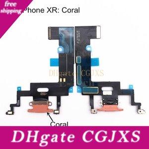 Port USB de charge Chargeur Flex pour Iphone Xr avec le Conseil Mic Microphone Flex Câble ruban Pièces de rechange 50pcs