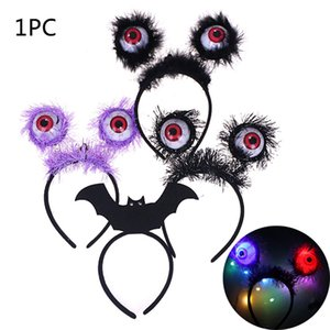 Halloween Glowing Eyeball Headband Children Toy Funny Headbands Prom Props Hair Accessories Headdress