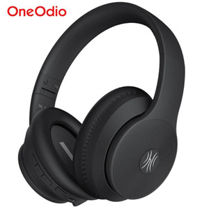 Oneodio A40 Wireless Auriculares con cancelación activa del ruido del auricular de Bluetooth V5.0 Manos Libres ANC para el teléfono sobre la oreja