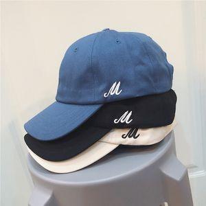 oncqQ de base de style brume top bleu doux solide parasol casquette de baseball capbaseball casquette de l'été popup capcolor style coréen pour les enfants des hommes Tide