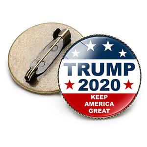 19 Стили Trump Жетоны 2020 США Президентские выборы Поставки Keep American Great Trump Брошь Trump Time Gem Знак