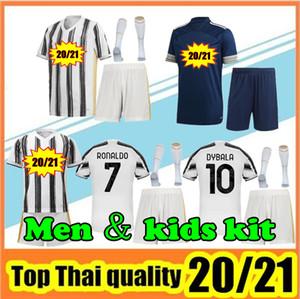 2020  2021 JUVENTUS Football Maillots RONALDO DE Ligt  Dybala  BUFFON rabiot HIGUAIN D.COSTA 2020/21 Juventus hommes et enfants Football Shirt