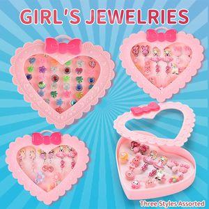 12pcs=1set Fancy Dress Cartoon Rings Party Favors Princess Pretend Play Toys Jewelry Ring Children Kids Girls Makeup Gift