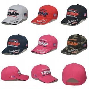 Faça presidente America Great Again Hat Trump Cap republicano Trump 2020 Bordados US Trump Bonés de beisebol ajustável 6 cores OOA8457