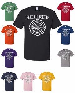 Retired Feuerwehrmann-T-Shirt Fireman Gift Fire Dept Badge Volunteer-T-Shirt