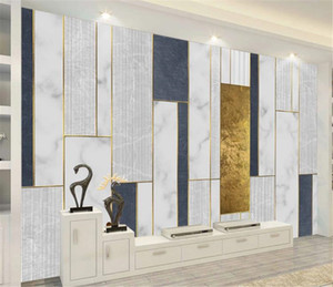 Modern minimalist geometric gold line mosaic pattern Digital Printing HD Decorative Beautiful Wallpaper