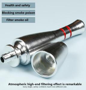 76mm Bowling bottle Metal pipe mini bullet style metel filter pipes smoking pipes tobacco pipe cigarette holder sharpstone GGA3696-1