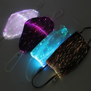 DHL Halloween LED Light Music Softair mascherina mascherine luminoso d'ardore Flash Cosplay Supplies Mascaras Carnaval partito Christams Decor