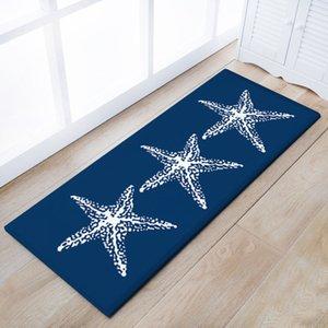 40*60 CM Sea Wave Home Rug Room Carpets Hallway Entrance Mat Cartoon Carpet Living Room Mat Non-slip Mat #73