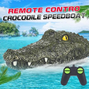 2.4GHz Head Novelty Crocodile Control Remote Game Boys Model Spoof Simulation RTR Vehicle Ship RC Speedboat Toys Child Electric Gi Corbc
