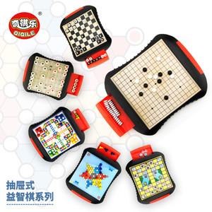 Jeux de la carte Haute Qualité Style de tiroir Chess Mini Mini Portable ABS Portable Ensemble d'échecs en plastique Jeux de société Jeux Enfants Cadeau