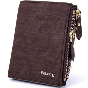 New RFID Blocking Protection Anti Theft Scan Men Male PU Leather Biflod Short Wallet Zipper Coin Case Pouch Casual Money Bag Pur