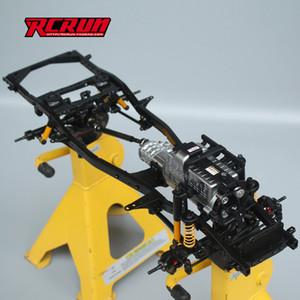 LNL 01:10 Rc Crawler 295-343mm regolabile in lega di pagina del telaio per SCX10 LC80 LC70 D110